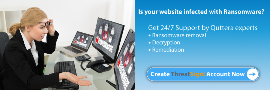 Remediate ransomware attack on websites